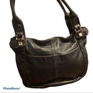 Tignanello | Black Leather Shoulder Bag